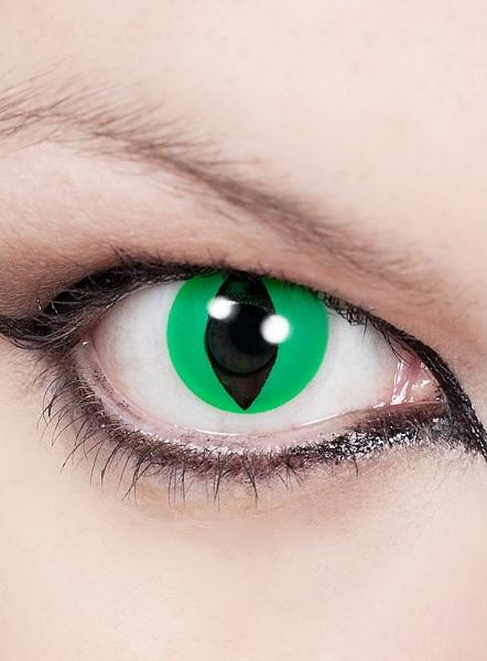 Halloween Kontaktlinsen grün Katzenauge