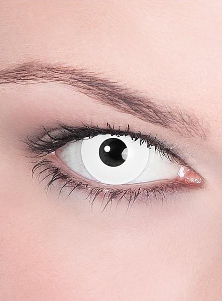 Halloween Kontaktlinsen weiß Zombie