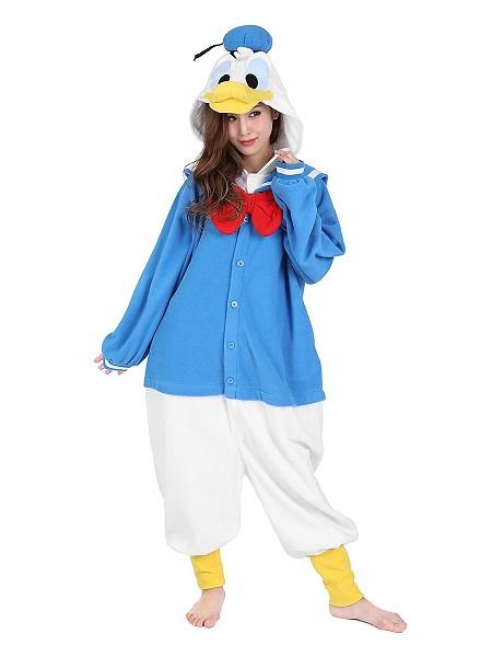 Kigurumi Kostüm Donald Duck Damen Frauen Erwachsene