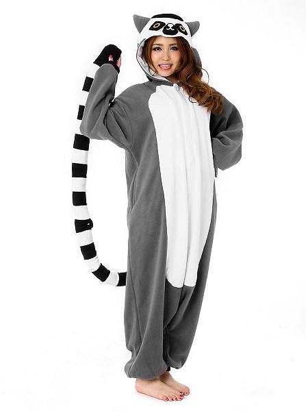 Kigurumi Kostüm Lemur Damen Frauen Erwachsene