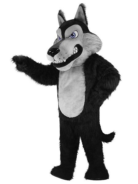 Maskottchen Kostüm Wolf