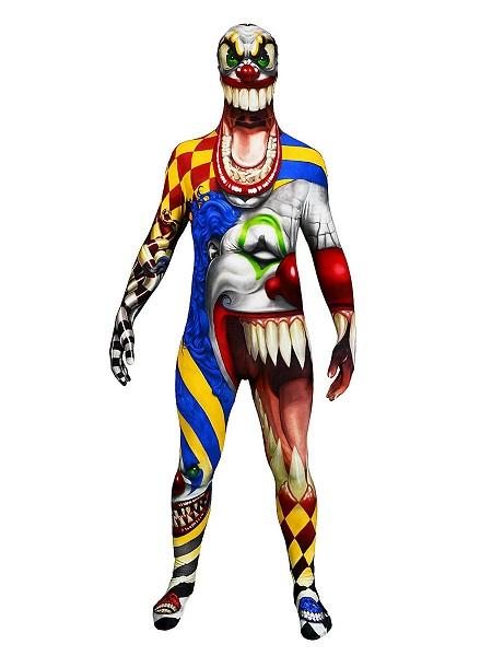 Morphsuit Horror Clown Ganzkörperkostüm Ganzkörperanzug
