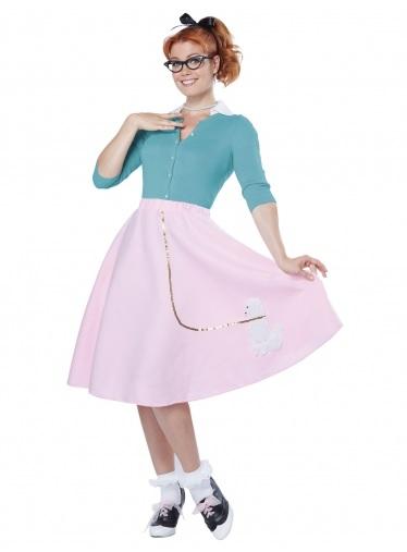 Mottoparty Ideen 50er Jahre Rockabilly Kleid Kostüm