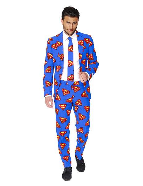 Opposuits Anzug Superman Herren Männer Erwachsene