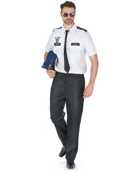 Pilotenkostüm Herren Männer Erwachsene