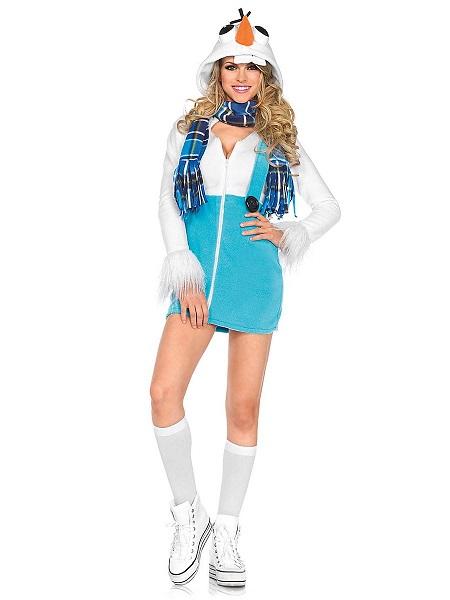 Schneemann Kostüm Damen Frauen Erwachsene