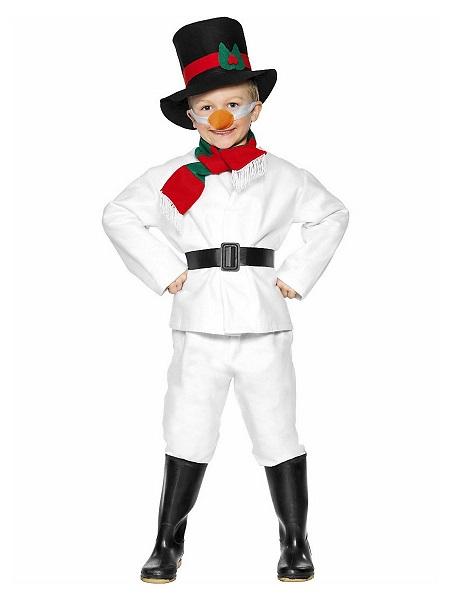 Schneemann Kostüm Kinder Jungen Mädchen