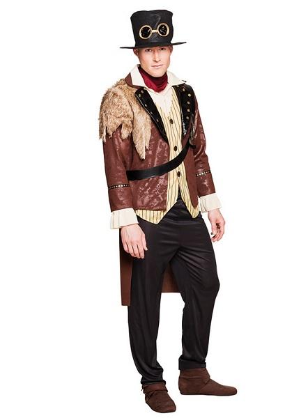 Steampunk Kostüm Herren Männer Erwachsene braun schwarz