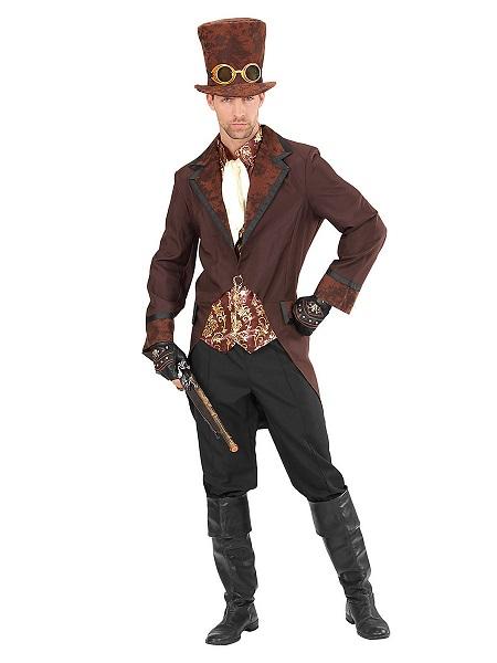 Steampunk Kostüm Herren Männer Erwachsene braun