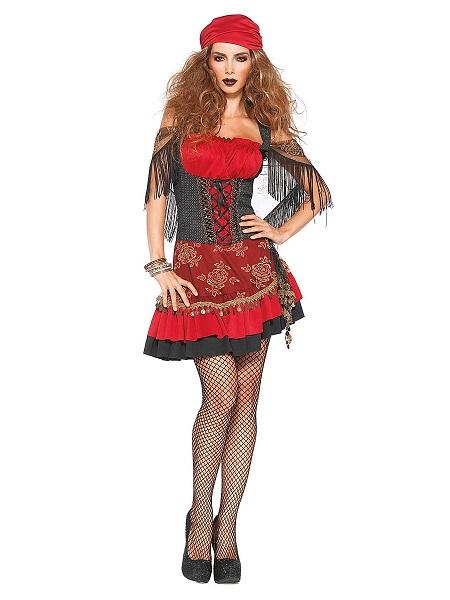 Wahrsagerin Kostüm Damen Zigeunerkostüm Frauen Erwachsene