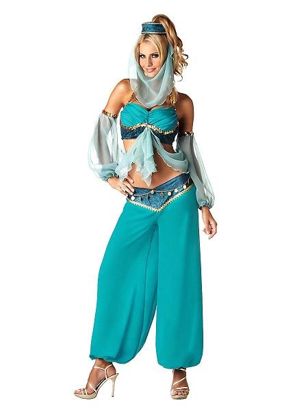 Bezaubernde Jeannie Kostüm Kleid Damen Frauen Erwachsene