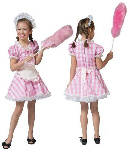 Dienstmädchen Hausmädchen Zimmermädchen Kostüm Kinder Mädchen