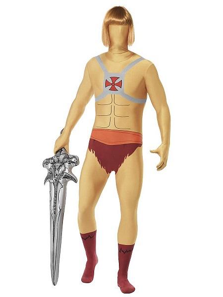 He-Man Kostüm Jumpsuit Ganzkörperkostüm Ganzkörperanzug Morphsuit Onesie Herren