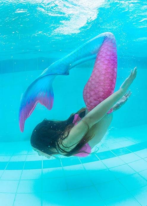 Meerjungfrauenflosse schwimmen Meermaiding