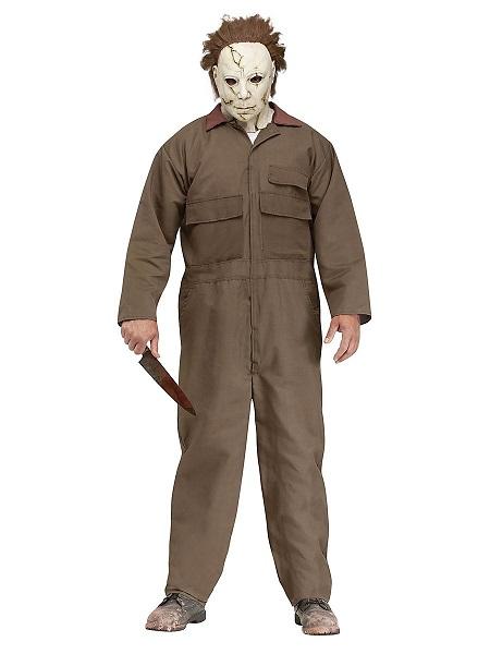 Michael Myers Kostüm Herren Männer Erwachsene braun