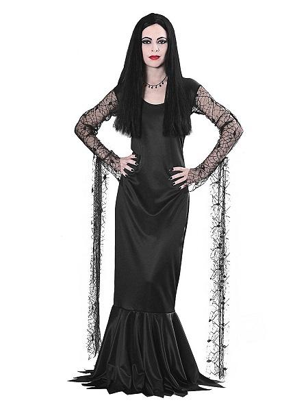 Morticia Addams Family Kostüm Damen Frauen Erwachsene