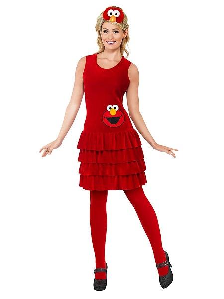 Sesamstraße Elmo Kostüm Gesicht Frauen T-Shirt