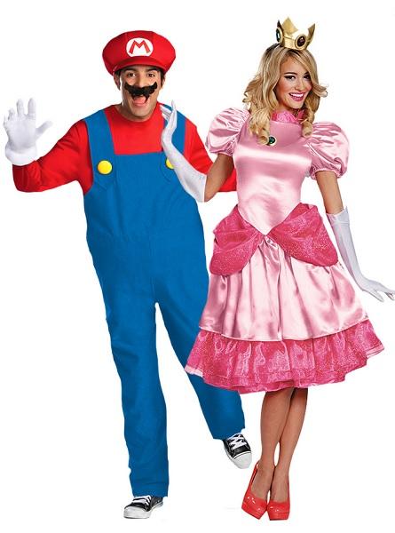 Super Mario und Prinzessin Peach Paarkostüm