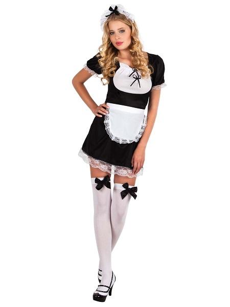 Zimmermädchen Hausmädchen Dienstmädchen Kostüm Damen Frauen Erwachsene