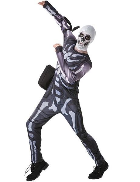 Fortnite Kostüm Herren Männer Erwachsene Skull Trooper